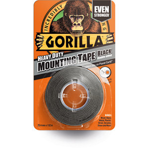 Image of Gorilla Black Double-sided Tape (L)1.5m (W)25.4mm