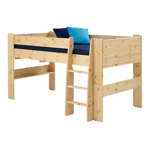 Image of Wizard Pine effect Mid sleeper bed frame