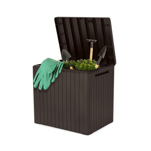Image of Keter City Wood effect Garden storage box