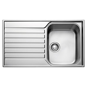 Image of Franke Ascona Polished Stainless steel Stainless steel 1 Bowl Sink & drainer