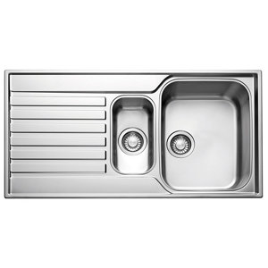 Image of Franke Ascona Polished Stainless steel Stainless steel 1.5 Bowl Sink & drainer