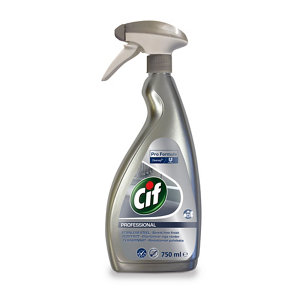 Image of Cif Professional unscented Stainless steel Cleaner 750ml Trigger spray bottle