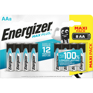Image of Energizer Alkaline Non-rechargeable AA Battery Pack of 8