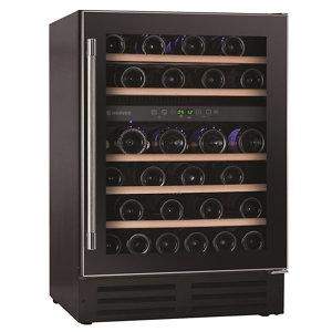 Image of Hoover HWCB60UK Black Stainless steel effect 46 bottles Wine cooler