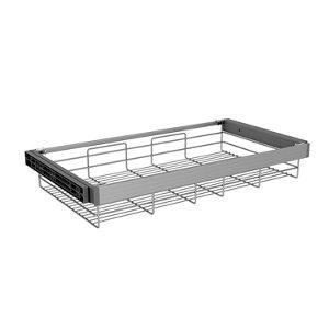 Image of Darwin Aluminium & plastic Tilt & turn right Storage basket (H)147mm (W)700mm