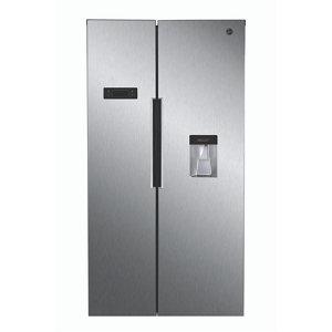 Hoover HHSBSO 6174XWDK American style Stainless steel Freestanding Fridge freezer