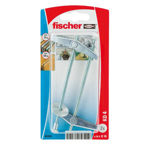Image of Fischer Spring toggle (L)90mm (Dia)14mm Pack of 2