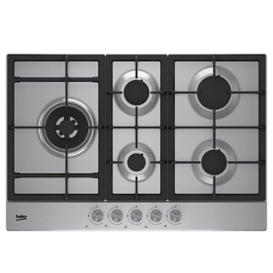 Image of Beko HQAW 75225 SX 5 Burner Silver Stainless steel Gas Hob (W)830mm