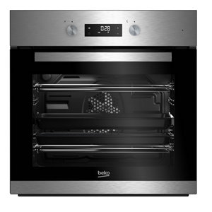 Image of Beko BQM22301XC Black & stainless steel Built-in Electric Single Multifunction Oven