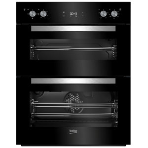 Image of Beko BTQF24300B Black Built-in Electric Double Multifunction Oven