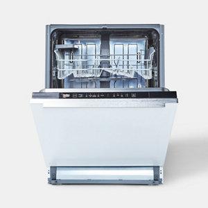 Beko DIN15Q10 Integrated Black & white Full size Dishwasher