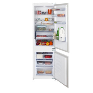 Image of Beko ICQFVD373 70:30 White Integrated Fridge freezer