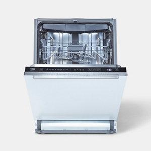 Beko DIN48Q20 Integrated Black & white Full size Dishwasher