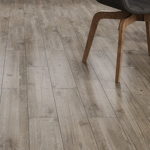 Image of Ashdown Beige Matt Wood effect Porcelain Wall & floor Tile Pack of 8 (L)900mm (W)150mm