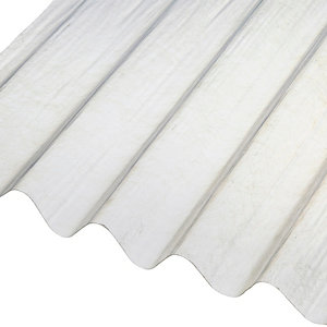 Image of Corrubit Clear Polyester (PES) Corrugated Roofing sheet (L)2m (W)950mm (T)0.8mm