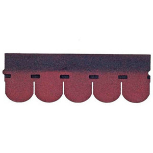 Image of BTM Red Rounded shingle Roofing felt (L)1m (W)0.33m