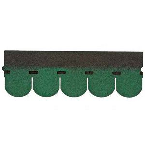 Image of BTM Green Rounded shingle Roofing felt (L)1m (W)0.33m