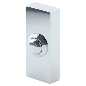 Image of Byron Chrome Chrome effect Wired Bell push