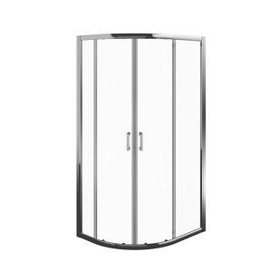 Image of Edge 6 Offset quadrant Shower Enclosure & tray with Double sliding doors (W)1000mm (D)800mm
