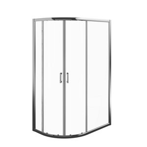 Image of Edge 6 Offset quadrant Enclosure & tray with Double sliding doors (W)1200mm (D)800mm