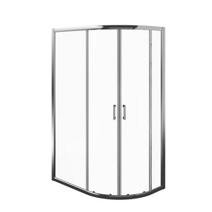Image of Edge 6 Offset quadrant Shower Enclosure & tray with Double sliding doors (W)1200mm (D)800mm