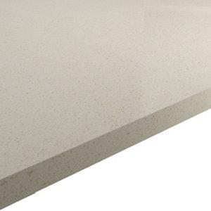 Image of HI-MACS 20mm Matt Sand beige Stone effect Acrylic Square edge Kitchen Worktop (L)2200mm