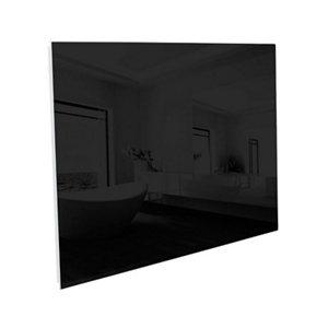 Image of Ximax Infrared glass Horizontal or vertical Designer Radiator Black (W)900mm (H)600mm