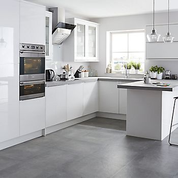 It santini white gloss slab kitchen