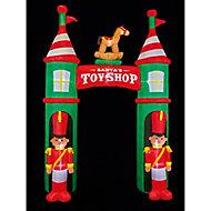 (H)3.05m LED Nutcracker Toyshop Archway Christmas inflatable
