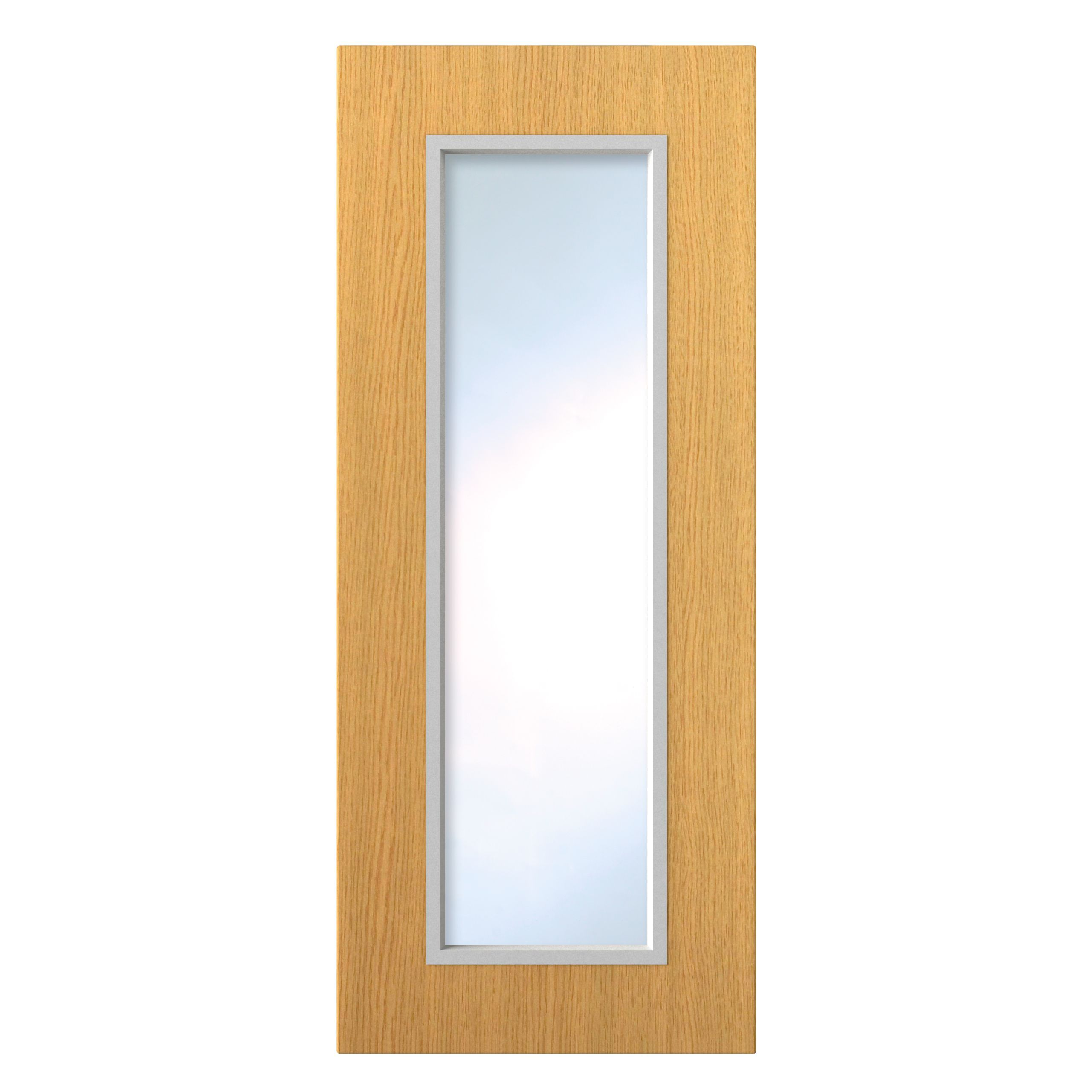 How To Trade >> IT Kitchens Oak Style Slab Glazed Door (W)300mm | Departments | TradePoint