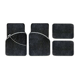 Michelin Polypropylene Black Car mat, Set of 4