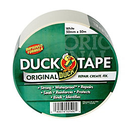 Duck White Cloth Tape (L)50M (W)50mm