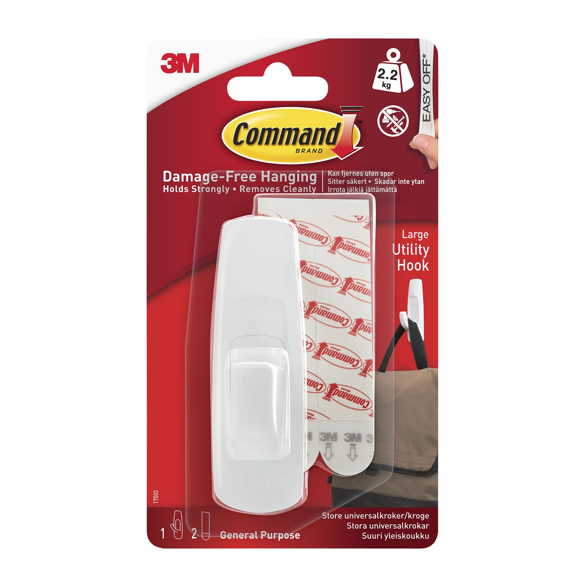 3m command white plastic hook departments tradepoint. Black Bedroom Furniture Sets. Home Design Ideas