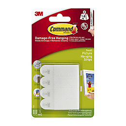 3M Command White Adhesive picture hanging strip of
