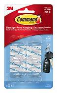 3M Command Plastic Mini hooks, Pack of 6