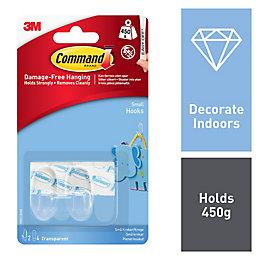 3M Command Plastic Hooks & Fittings, Pack of