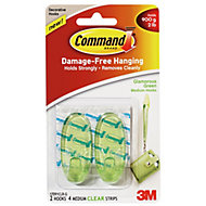 3M Command Green Plastic Hooks, Pack of 2