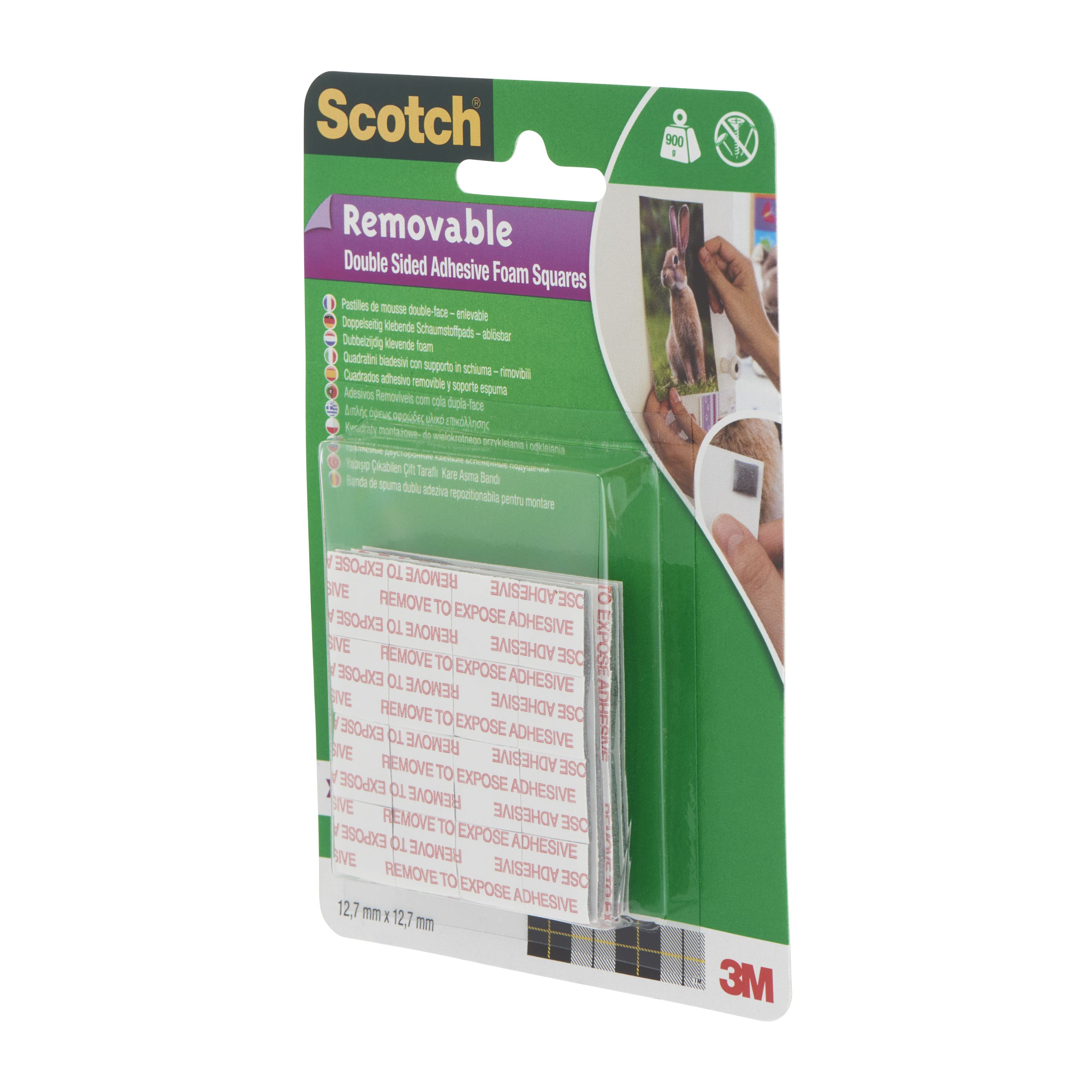 scotch grey double sided tape l 12 7m w departments diy at b q. Black Bedroom Furniture Sets. Home Design Ideas