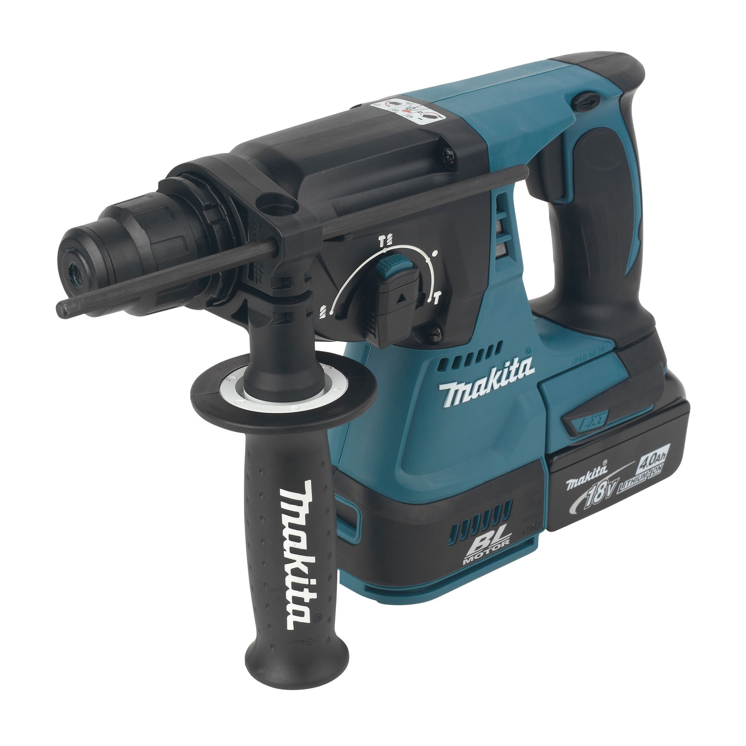 makita lxt cordless 18v 4ah li ion sds hammer drill 2. Black Bedroom Furniture Sets. Home Design Ideas