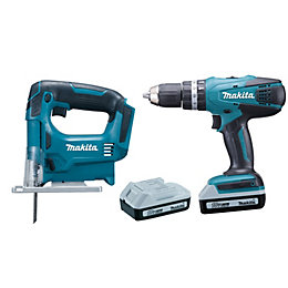 Makita G-Series Cordless 18V 1.5Ah 2 piece Combi
