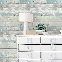 Wallpops Beachwood Grey Peel & Stick Wallpaper (L)5500mm