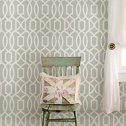 Wallpops Grand Trellis Grey Peel & Stick Wallpaper