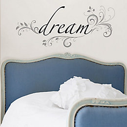 Wallpops Dream Black Self adhesive Wall sticker (H)320mm