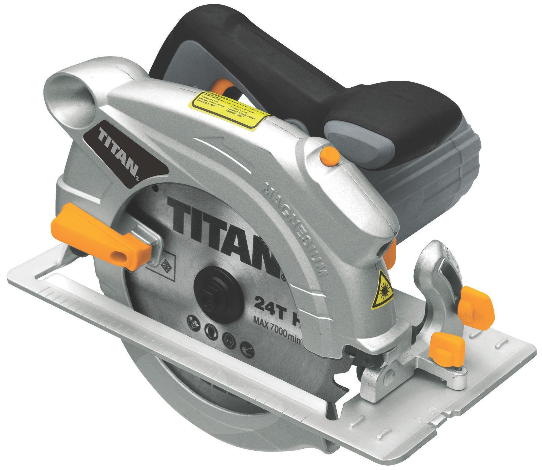 Titan 1500w 230v 190mm Circular Saw Ttb286csw