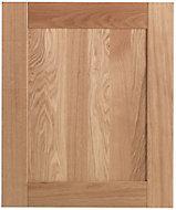 Cooke & Lewis Chesterton Solid Oak Integrated appliance door (W)600mm