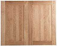 Cooke & Lewis Chesterton Solid Oak Larder door (W)600mm, Set of 2