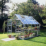 B&Q Premier Metal 8x10 Horticultural glass greenhouse