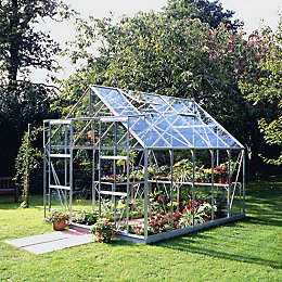 B&Q Premier Metal 8X10 Horticultural Glass Greenhouse