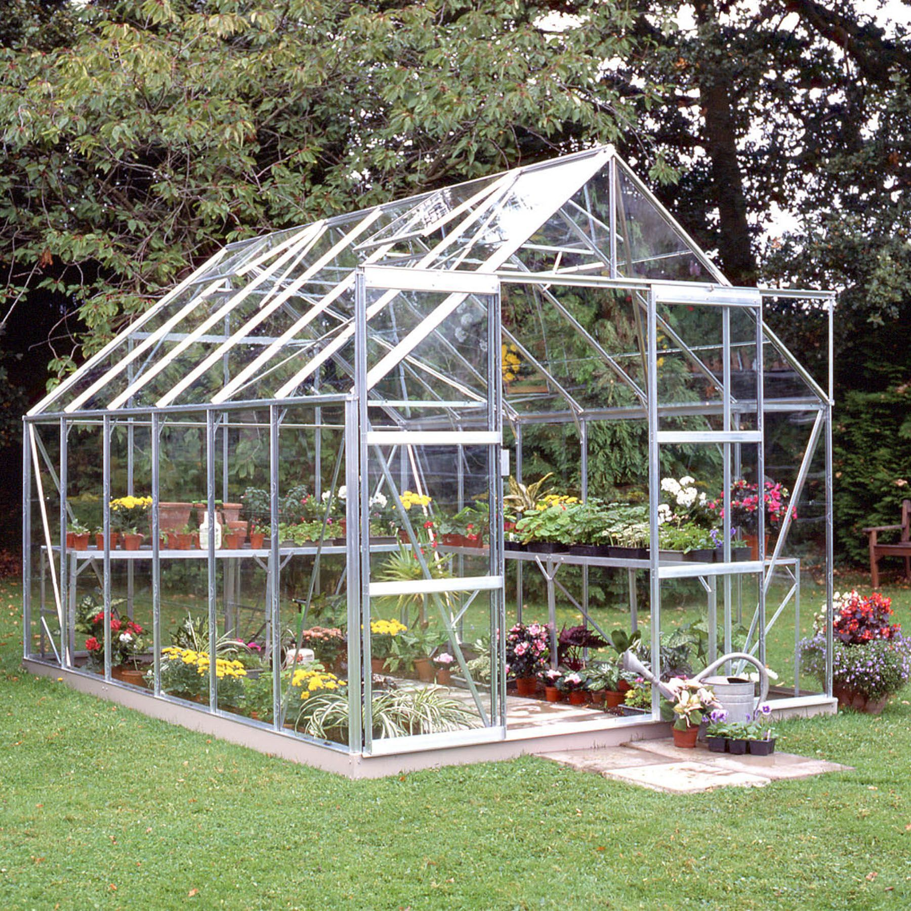 B&Q Premier Metal 8x12 Horticultural glass greenhouse