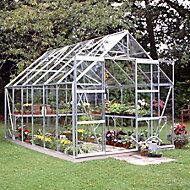 B&Q Premier Metal 8x12 Horticultural glass greenhouse